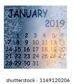 calendar month january winter...   Shutterstock .eps vector #1169120206