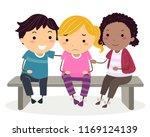 illustration of a stickman kid... | Shutterstock .eps vector #1169124139