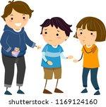 illustration of stickman kids... | Shutterstock .eps vector #1169124160