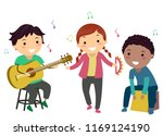 illustration of stickman kids... | Shutterstock .eps vector #1169124190