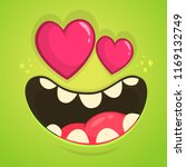 cartoon monster in love with a... | Shutterstock .eps vector #1169132749