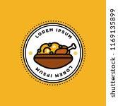chicken biryani pot badge or... | Shutterstock .eps vector #1169135899