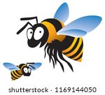 the bee. image for illustration | Shutterstock .eps vector #1169144050