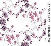 small floral seamless pattern... | Shutterstock .eps vector #1169170726