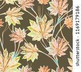autumn seamless pattern.... | Shutterstock . vector #1169179186