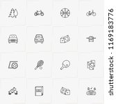 leisure line icon set with... | Shutterstock .eps vector #1169183776