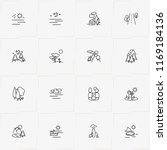 landscape line icon set with... | Shutterstock .eps vector #1169184136