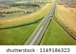 aerial top view of highway... | Shutterstock . vector #1169186323