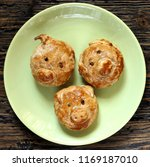 pig snout from dough. pies with ...   Shutterstock . vector #1169187010
