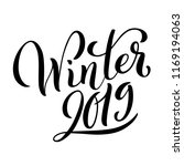hello winter 2019 poster with... | Shutterstock .eps vector #1169194063