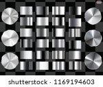 set of silver foil texture... | Shutterstock .eps vector #1169194603