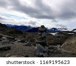 mountain stone tower  beautiful ... | Shutterstock . vector #1169195623