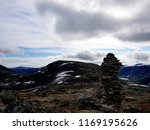 mountain stone tower  beautiful ... | Shutterstock . vector #1169195626