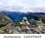 mountain stone tower  beautiful ... | Shutterstock . vector #1169195629