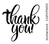 thank you lettering.... | Shutterstock .eps vector #1169195653