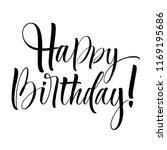 happy birthday lettering.... | Shutterstock .eps vector #1169195686