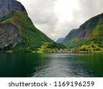 wonderful fjords  blue sea... | Shutterstock . vector #1169196259