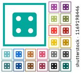 dice four flat color icons with ... | Shutterstock .eps vector #1169198446