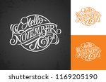 hello november vintage... | Shutterstock .eps vector #1169205190
