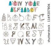 new year alphabet | Shutterstock .eps vector #1169207806