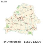 vector road and national park... | Shutterstock .eps vector #1169213209