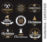 christmas vector logo for... | Shutterstock .eps vector #1169219320
