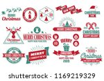 christmas vector logo for... | Shutterstock .eps vector #1169219329