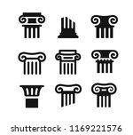 architectural columns black....   Shutterstock .eps vector #1169221576