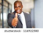 successful african american... | Shutterstock . vector #116922580