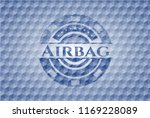 airbag blue emblem or badge... | Shutterstock .eps vector #1169228089