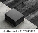 black textured cardboard box... | Shutterstock . vector #1169230099
