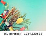 jewish festival of sukkot.... | Shutterstock . vector #1169230693