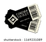 two cinema tickets isolated on... | Shutterstock .eps vector #1169231089