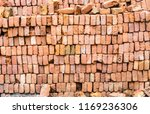 rows of bricks stacked for... | Shutterstock . vector #1169236306