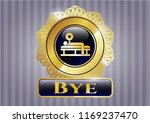 gold shiny badge with bench... | Shutterstock .eps vector #1169237470