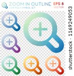 zoom in outline geometric... | Shutterstock .eps vector #1169249053