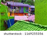 view of old colorful houses... | Shutterstock . vector #1169255356
