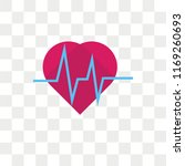 heart beat vector icon isolated ... | Shutterstock .eps vector #1169260693