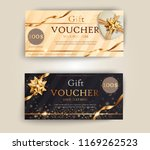 vector set of luxury gift... | Shutterstock .eps vector #1169262523