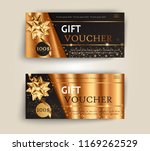vector set of luxury gift... | Shutterstock .eps vector #1169262529