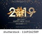 happy new year 2019 winter... | Shutterstock .eps vector #1169262589