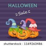 halloween illustration with...   Shutterstock .eps vector #1169263486