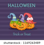 halloween illustration with... | Shutterstock .eps vector #1169263489