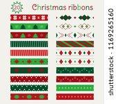 set of christmas seamless... | Shutterstock .eps vector #1169265160