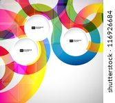 abstract background with vector ... | Shutterstock .eps vector #116926684