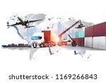 transportation  import export... | Shutterstock . vector #1169266843