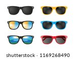 vector set. sunglasses. | Shutterstock .eps vector #1169268490