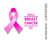 realistic pink ribbon  breast... | Shutterstock .eps vector #1169269183