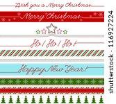vector christmas greetings... | Shutterstock .eps vector #116927224