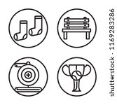 set of 4 vector icons such as... | Shutterstock .eps vector #1169283286